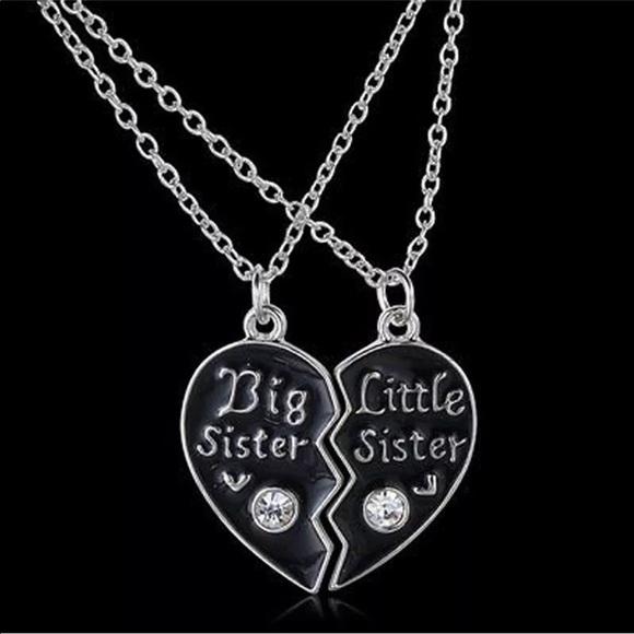 be1b89225d Accessories   Pair Of Big Little Sister Split Heart Necklaces   Poshmark